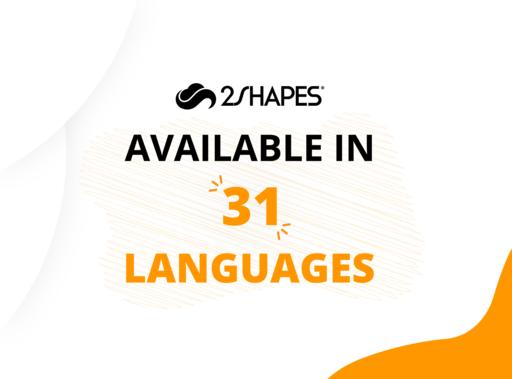 2Shapes available in 31 languages