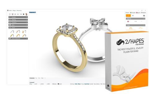 2Shapes for Rhino: Jewelry Plugin for Rhino