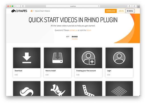 2Shapes for Rhino, Videos