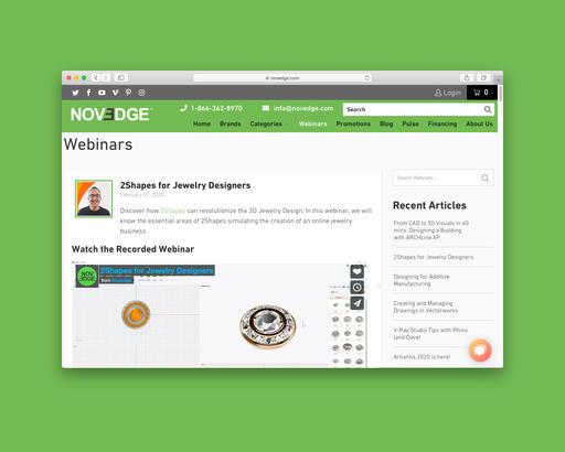 Novedge: 2Shapes Webinar