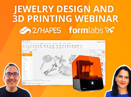 3D Jewelry Design and 3D Printing with 2Shapes for Rhino and Formlabs Form3