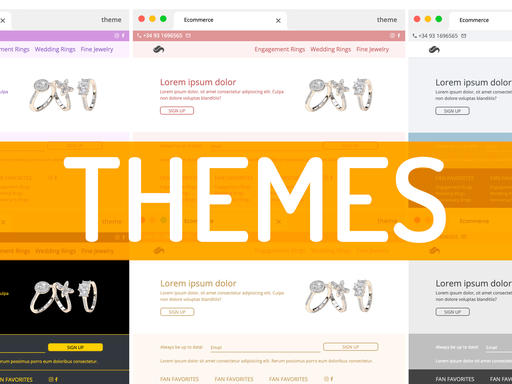 Themes: over 25 to choose from, or create your own!
