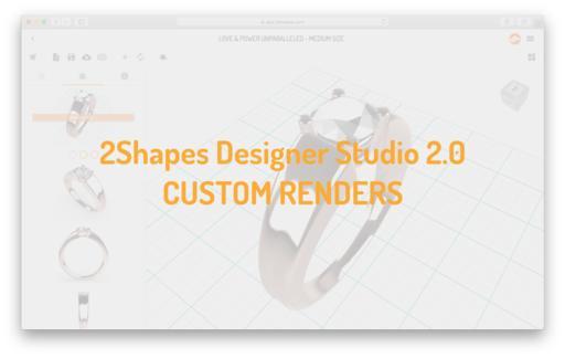 2Shapes Designer Studio 2.0 - Custom renders