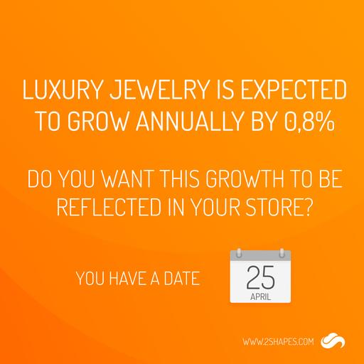 Luxury jewelry is expected to grow annually by 0,8%