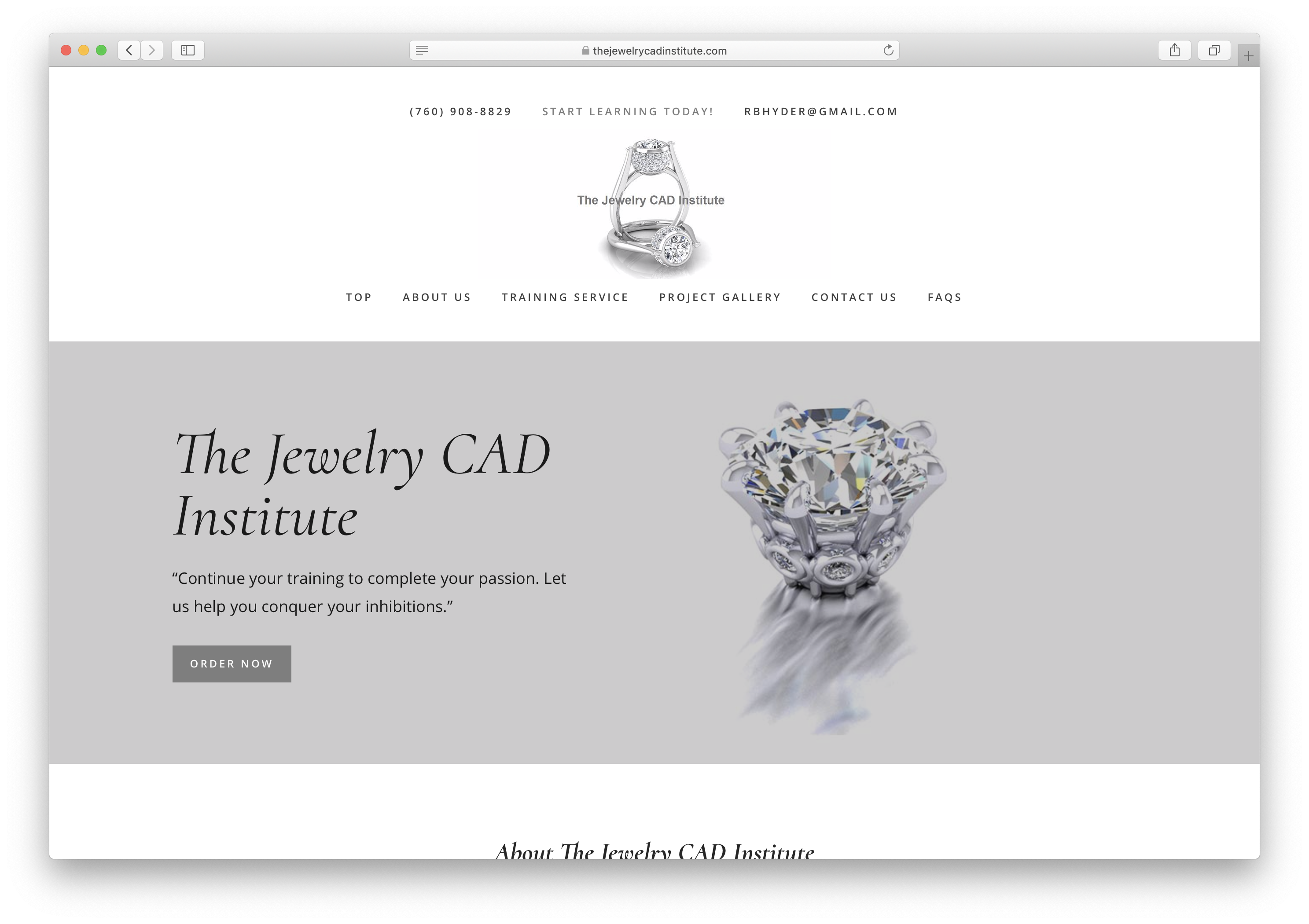 The Jewelry CAD Institute web
